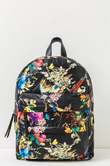 All-over floral print backpack, Black, hi-res