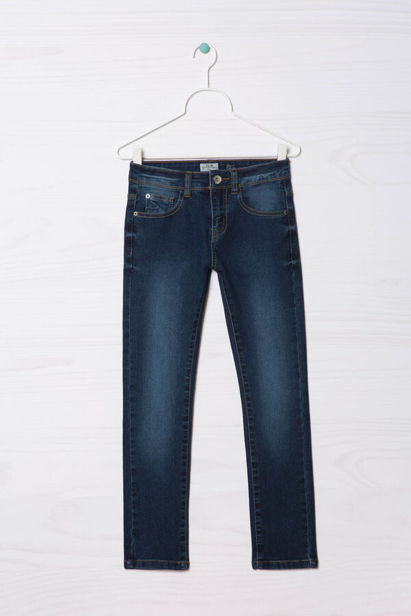 Worn-effect, slim-fit stretch jeans | OVS
