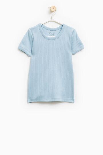 100% cotton ribbed undershirt, Light Blue, hi-res