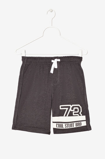 Shorts with print, Black, hi-res