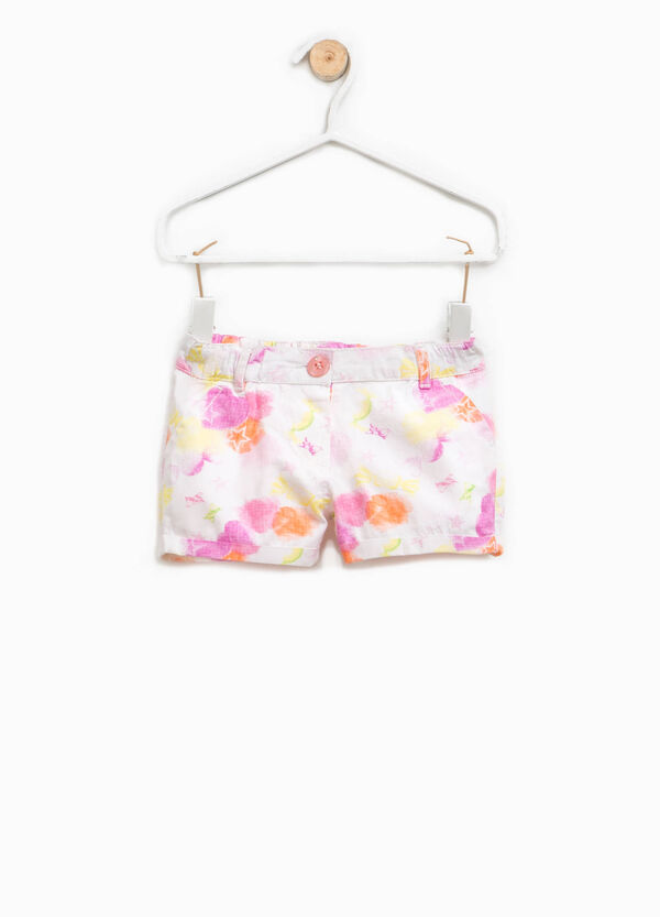 Patterned shorts in cotton | OVS