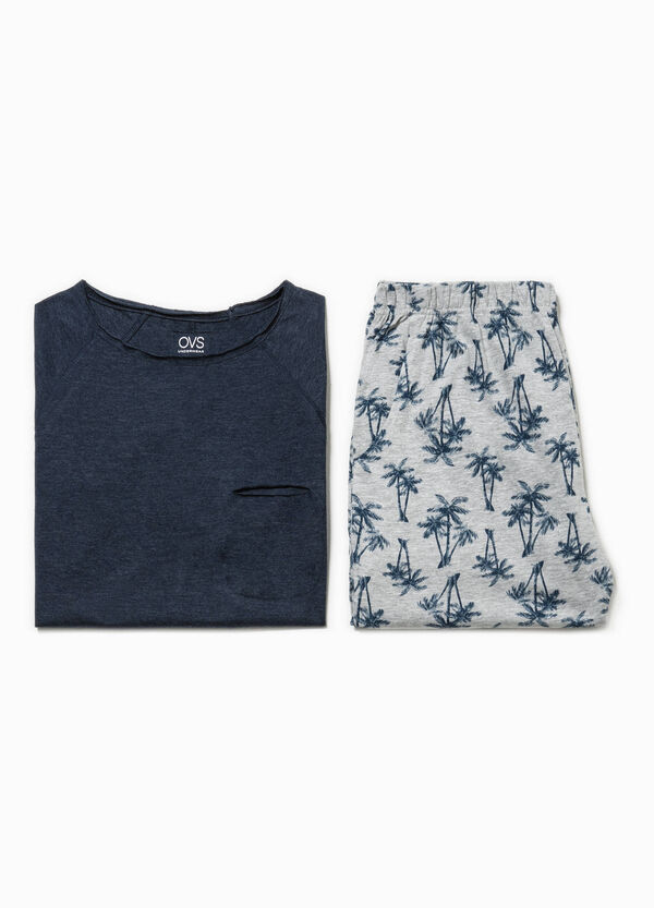 Patterned top and Bermuda shorts pyjama set | OVS