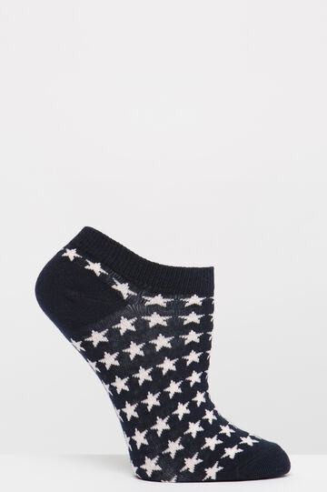 Two-pair pack of socks with stars pattern, Blue, hi-res