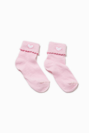 Short socks with glitter embroidery