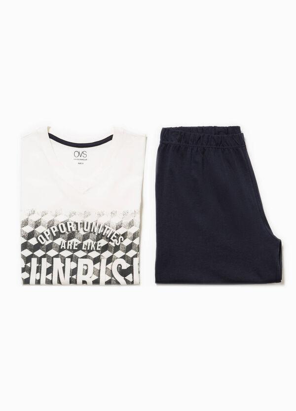 Top and Bermuda shorts pyjama set | OVS
