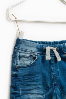 Jeans stretch effetto stropicciato, Lavaggio medio, hi-res