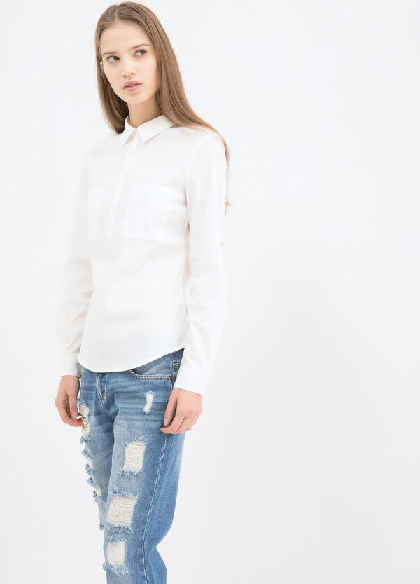 Camicia stretch tinta unita | OVS