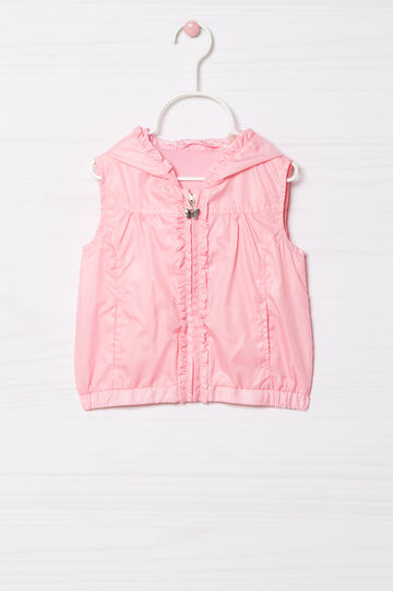 Hooded waistcoat, Light Pink, hi-res