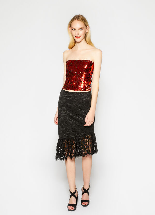 Sleeveless top with sequins   OVS