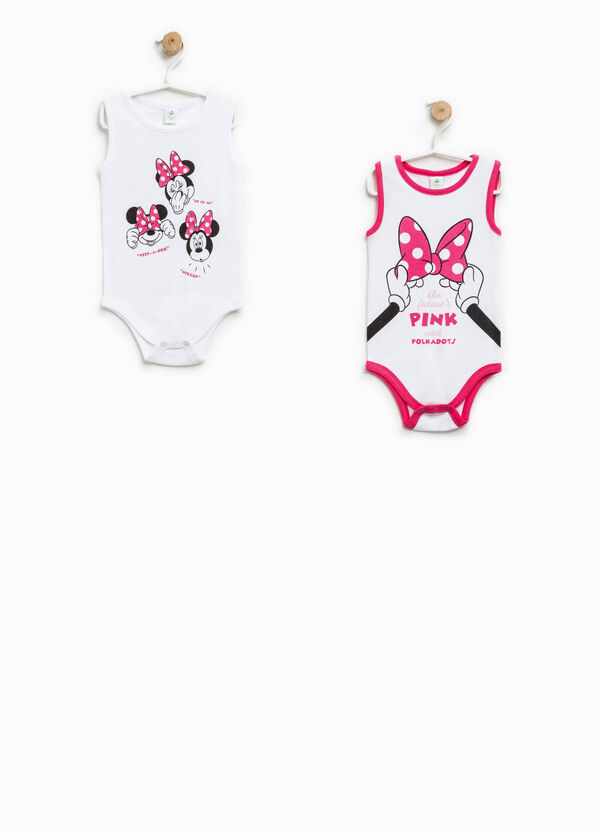 Set due body smanicati con motivo Minnie | OVS