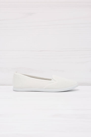 Solid colour slip-ons, White, hi-res