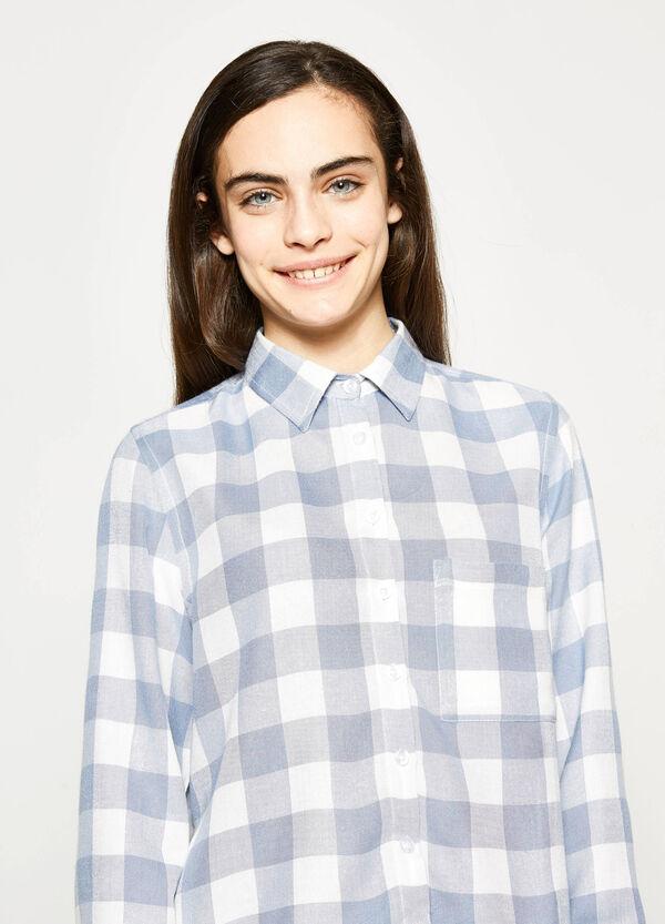 Camisa de cuadros de viscosa Teen | OVS