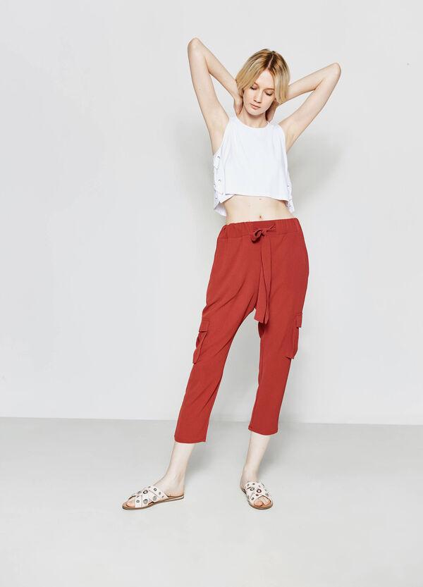 Pantaloni cargo tinta unita | OVS