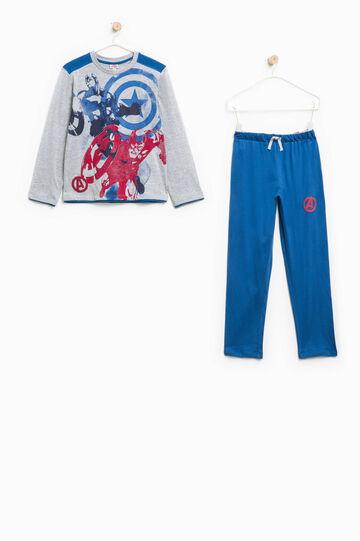 Pigiama 100% Biocotton Captain America, Grigio/Blu, hi-res