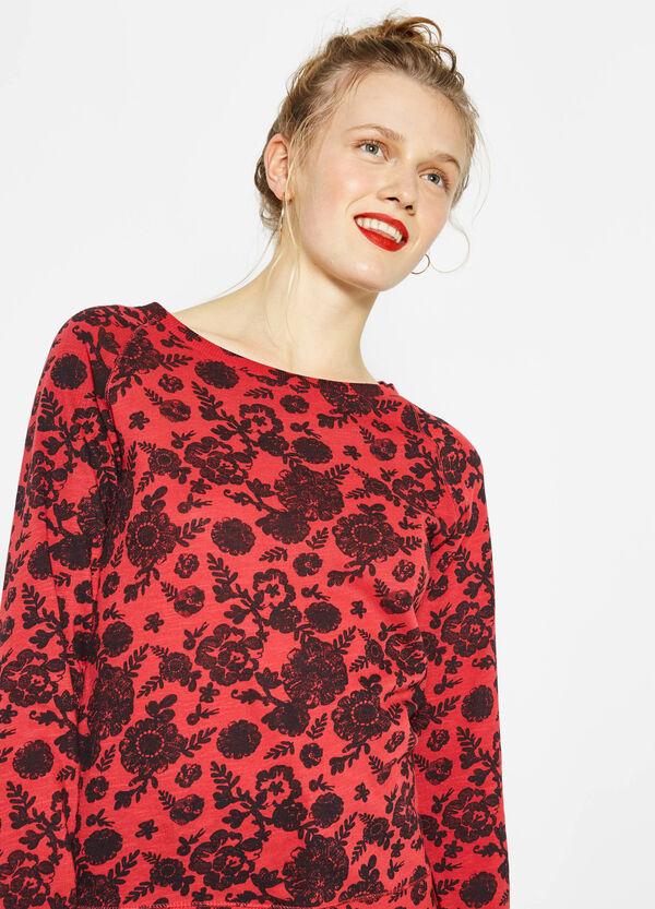 Camiseta en algodón 100% con fantasía floral | OVS
