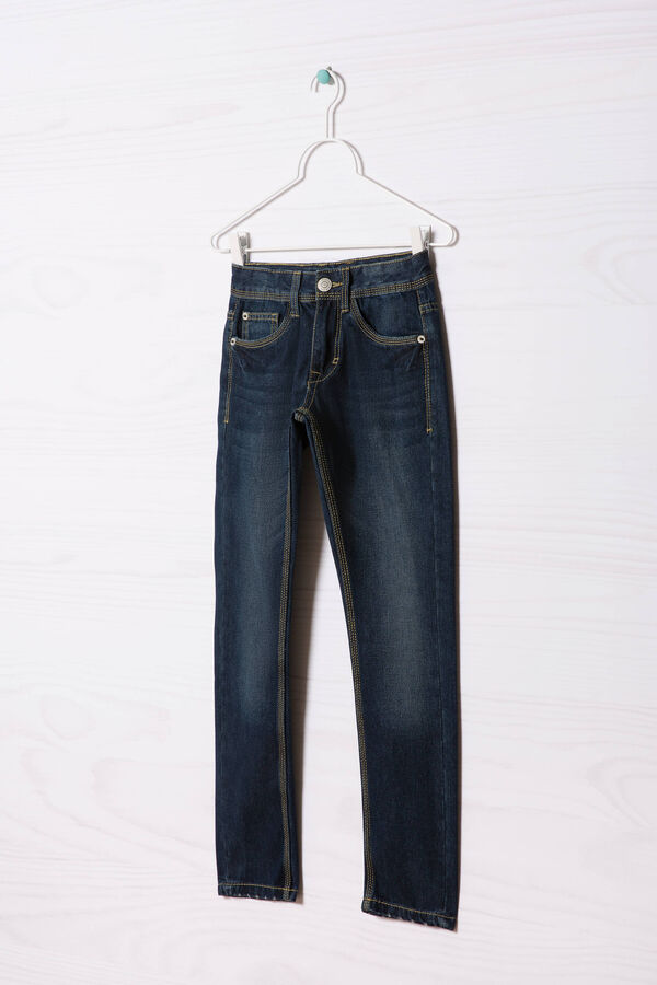 Jeans effetto used cuciture contrasto | OVS