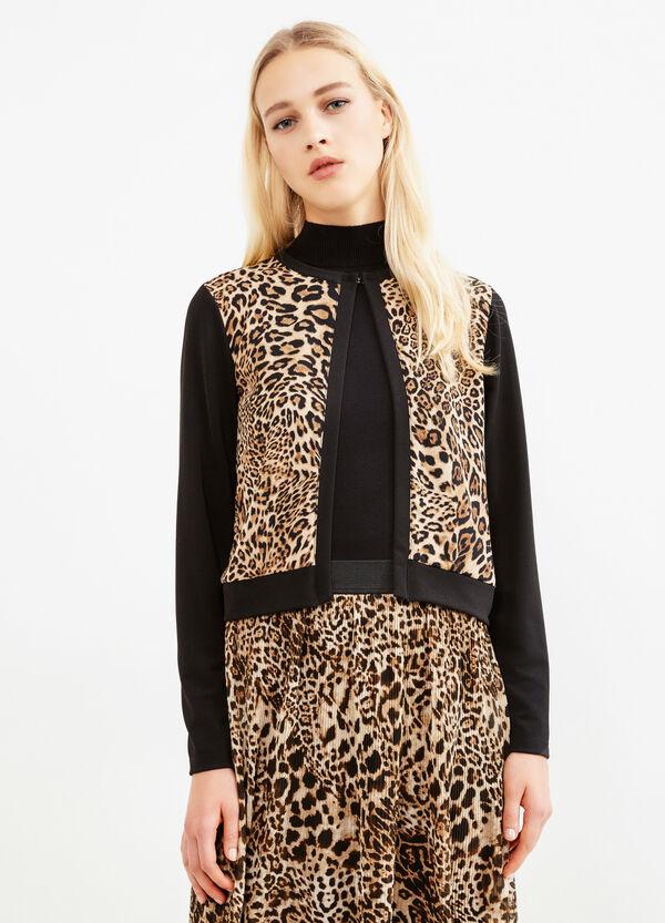 Stretch animal print blazer   OVS
