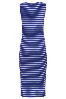 Smart Basic long striped dress, White/Blue, hi-res