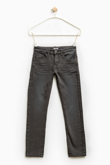 Worn-effect stretch jeans, Slate Grey, hi-res