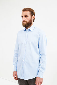 Check regular fit formal shirt, Soft Blue, hi-res