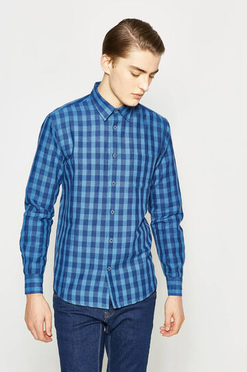 Casual check linen shirt