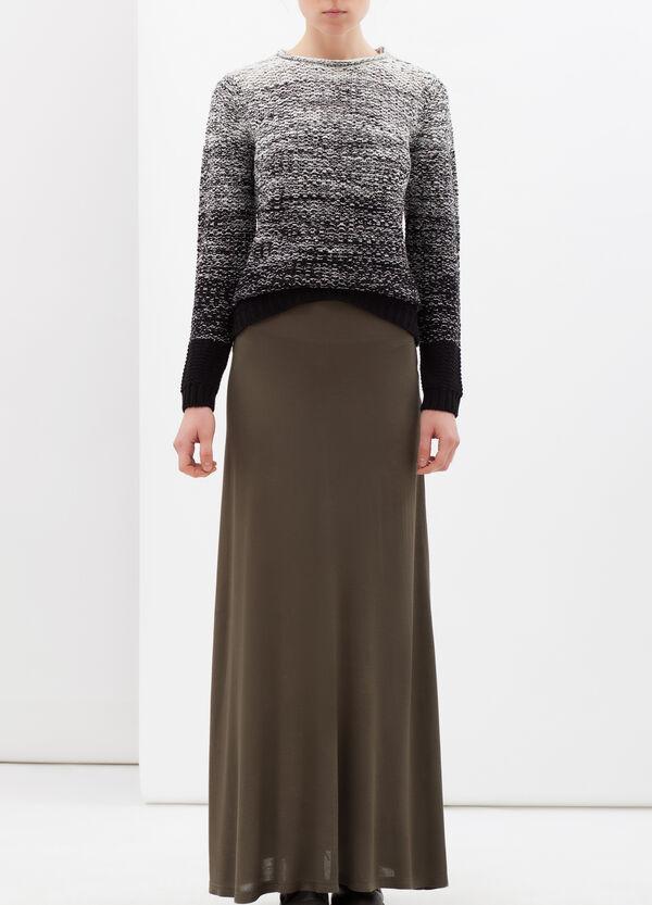 100% viscose long skirt | OVS