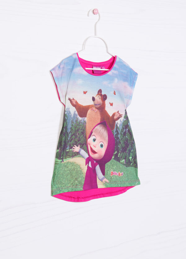 T-shirt with Masha and the Bear print | OVS