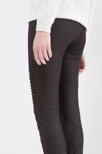 Jeggings regular waist cotone stretch, Nero, hi-res