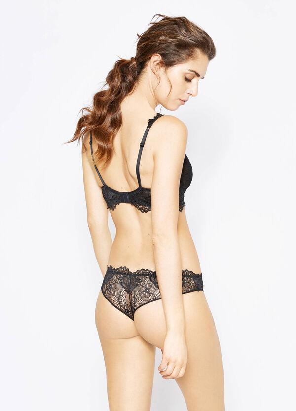 Stretch lace Brazilian cut briefs | OVS