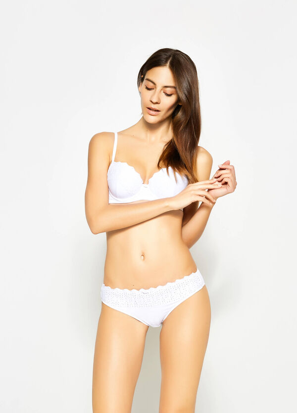 Brazilian-cut briefs with openwork embroidery | OVS
