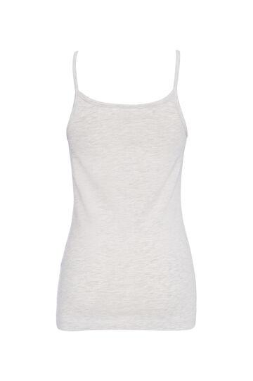 Solid colour stretch top, Grey Marl, hi-res