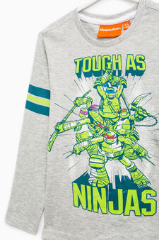Ninja Turtles T-shirt in 100% cotton, Grey, hi-res