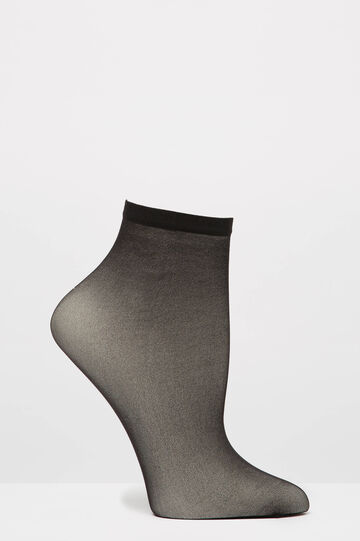 Two-pair pack short pop socks, Black, hi-res