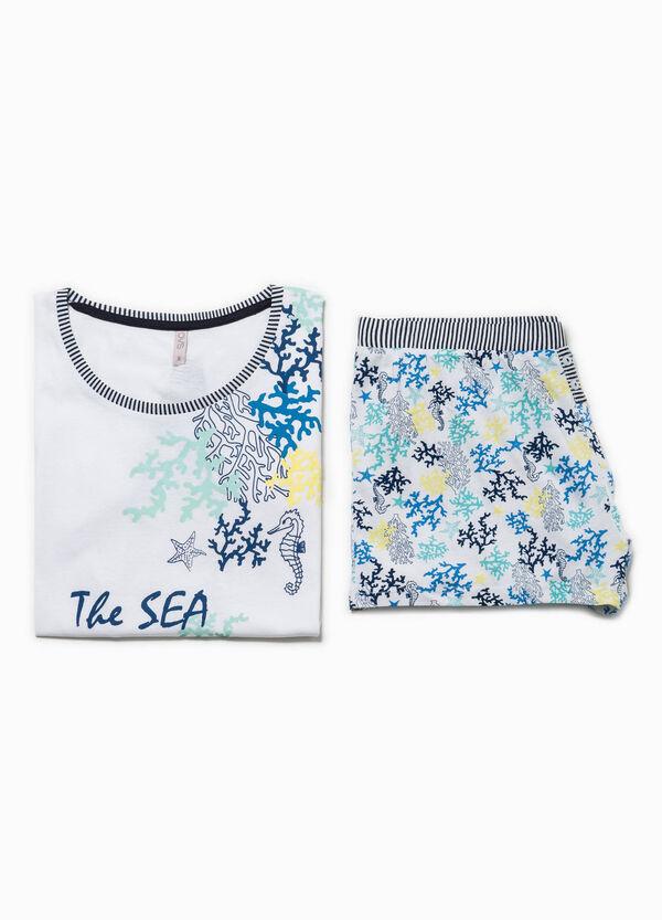 Pijama con estampado de flores y rayas | OVS