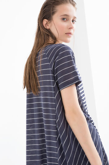 Cotton T-shirt with striped pattern