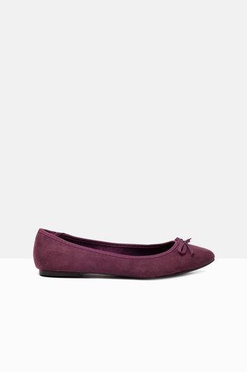 Suede-look ballerina flats, Raspberry, hi-res