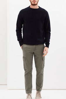 Regular fit stretch chinos, Army Green, hi-res