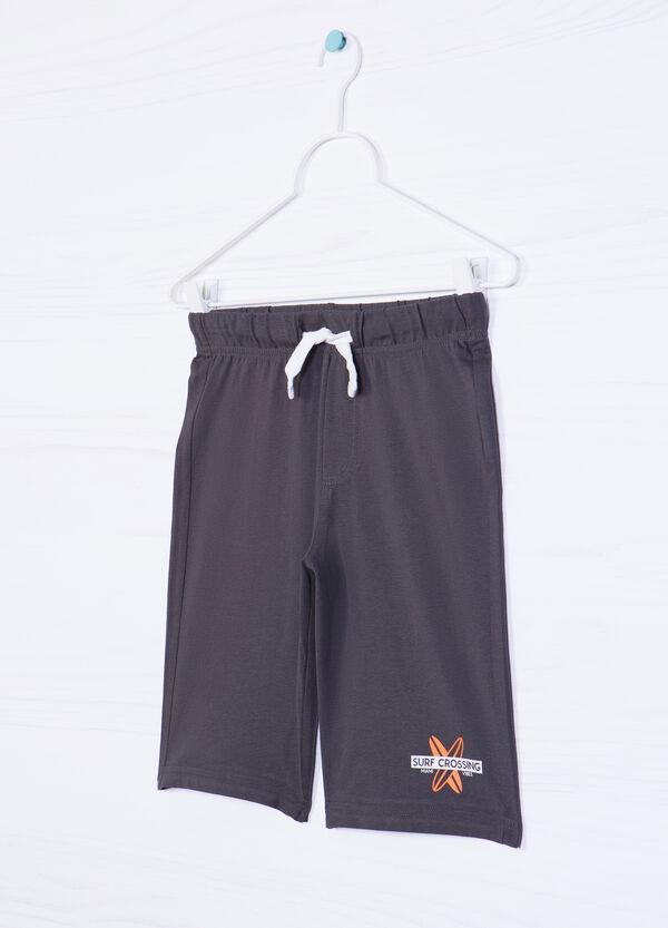 Printed Bermuda shorts in 100% cotton | OVS