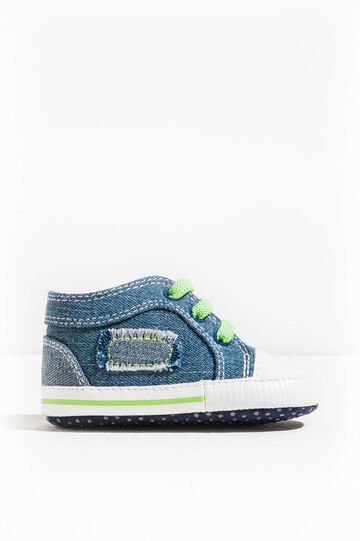 Sneakers con tomaia in jeans, Denim, hi-res