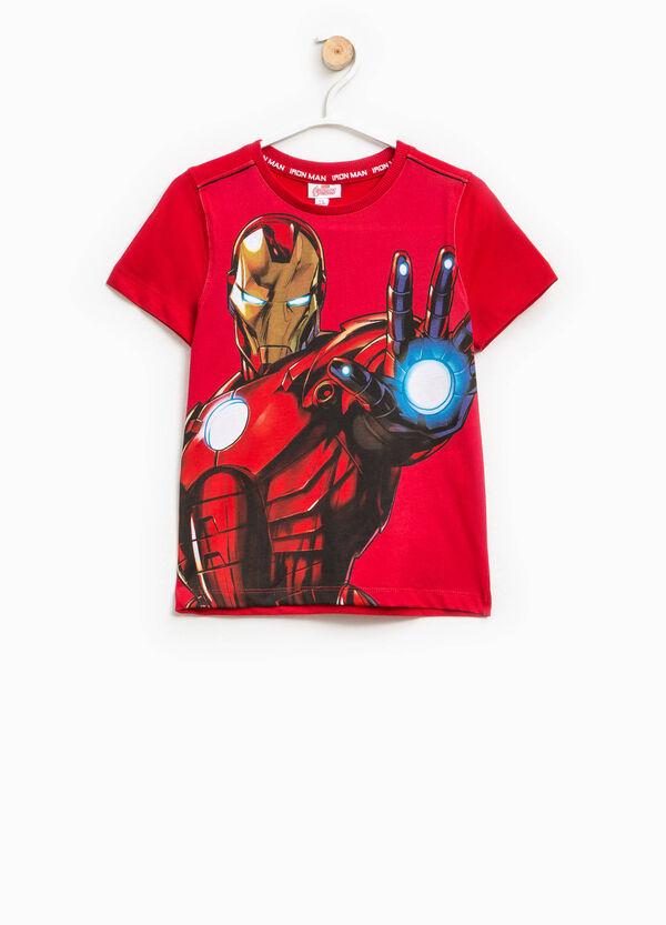 T-shirt with maxi Ironman glitter print | OVS