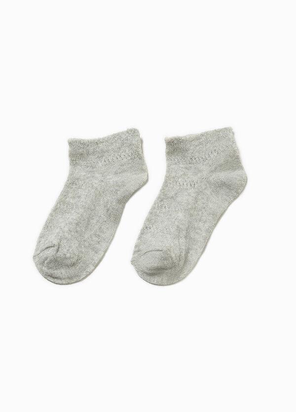 Set due paia di calze corte glitterate   OVS