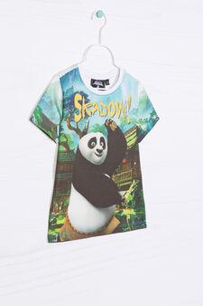 T-shirt with maxi Kung Fu Panda print, White, hi-res
