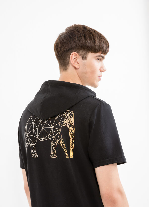 Printed sweatshirt with short sleeves | OVS