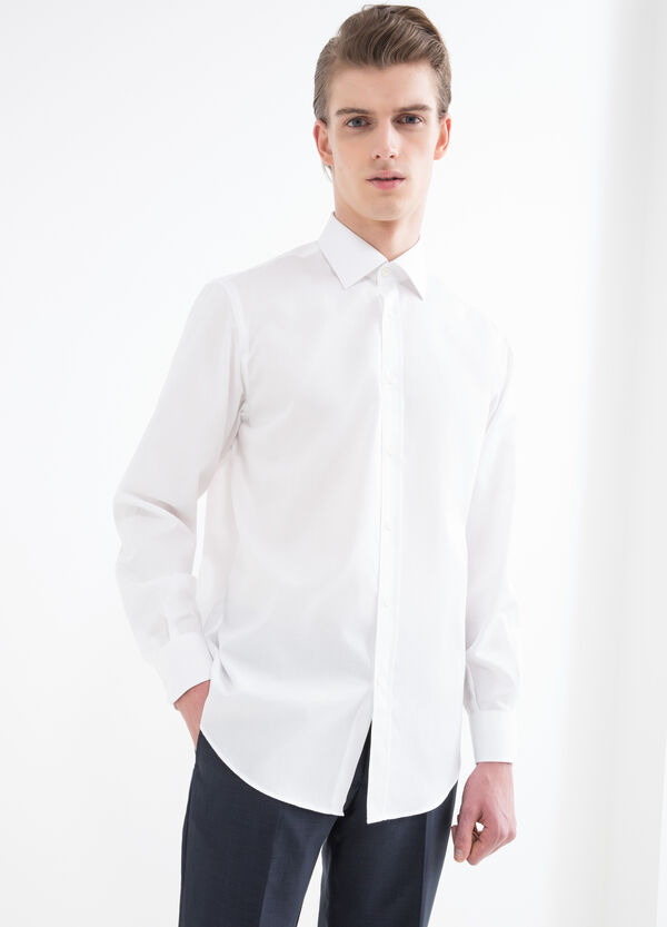 Camicia regular fit con micro quadri | OVS