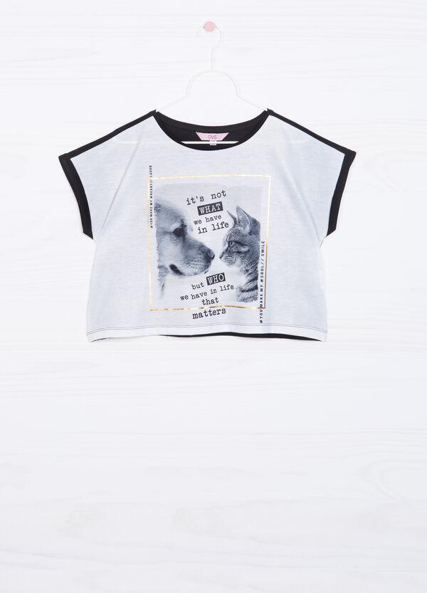 T-shirt crop con stampa | OVS