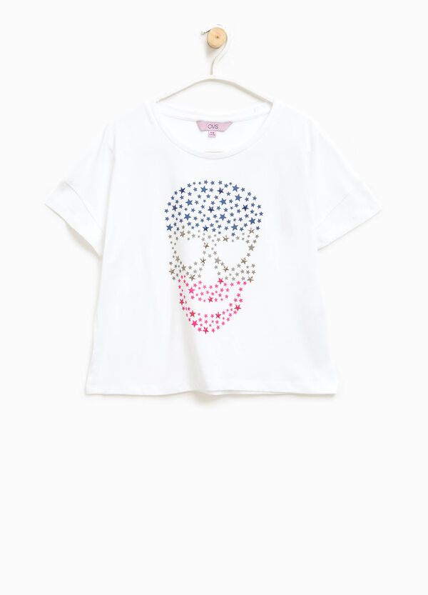 Cotton T-shirt with maxi print | OVS