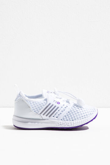 Sneakers with mesh upper, White/Purple, hi-res