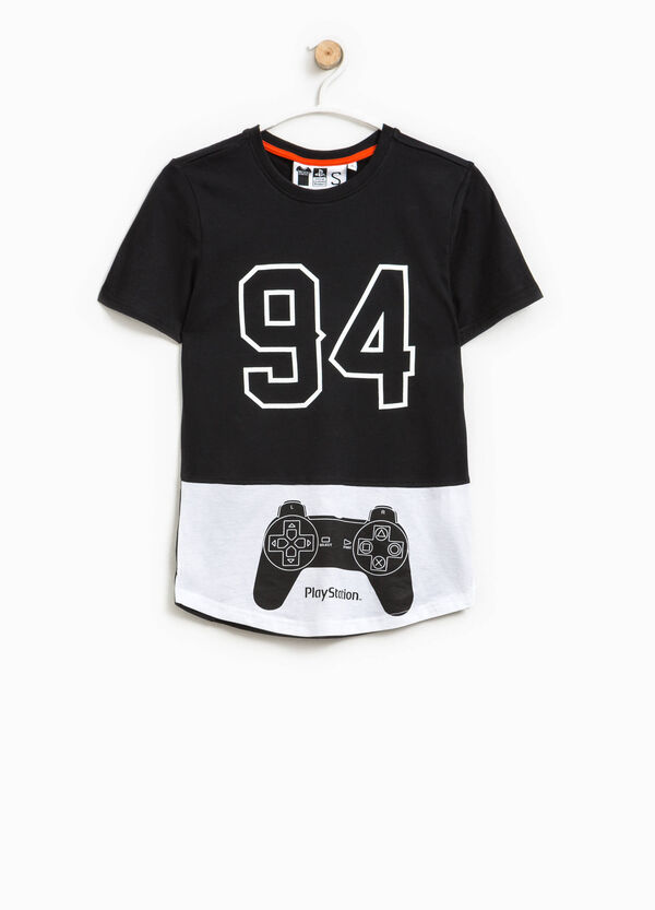 T-shirt in cotone con stampa PlayStation | OVS