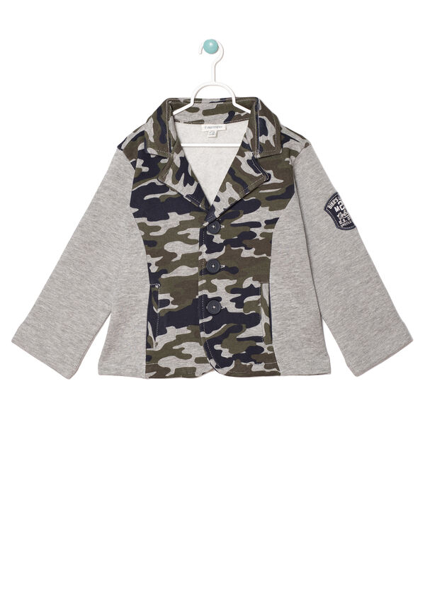Giacca in felpa inserto camouflage | OVS