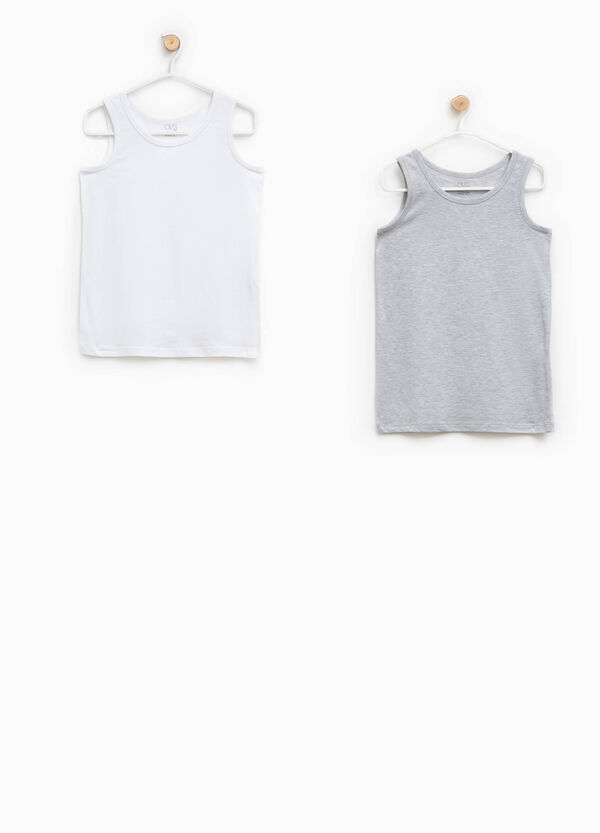 Two-pack under vests with round neck | OVS